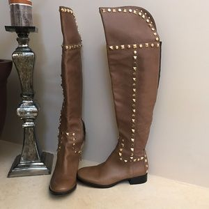 Tory Burch over the knee studded boot